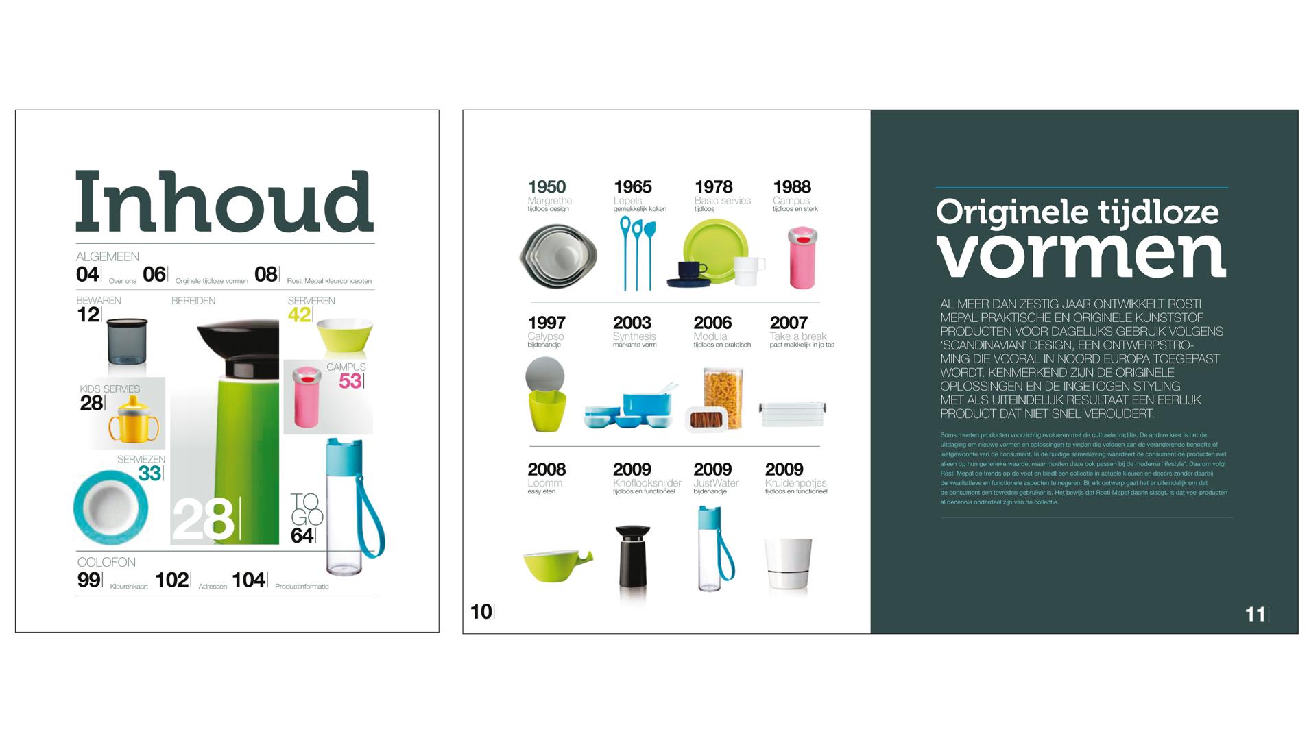 Regievoering, concept en vormgeving van catalogi en verpakkingen - Rosti Mepal
