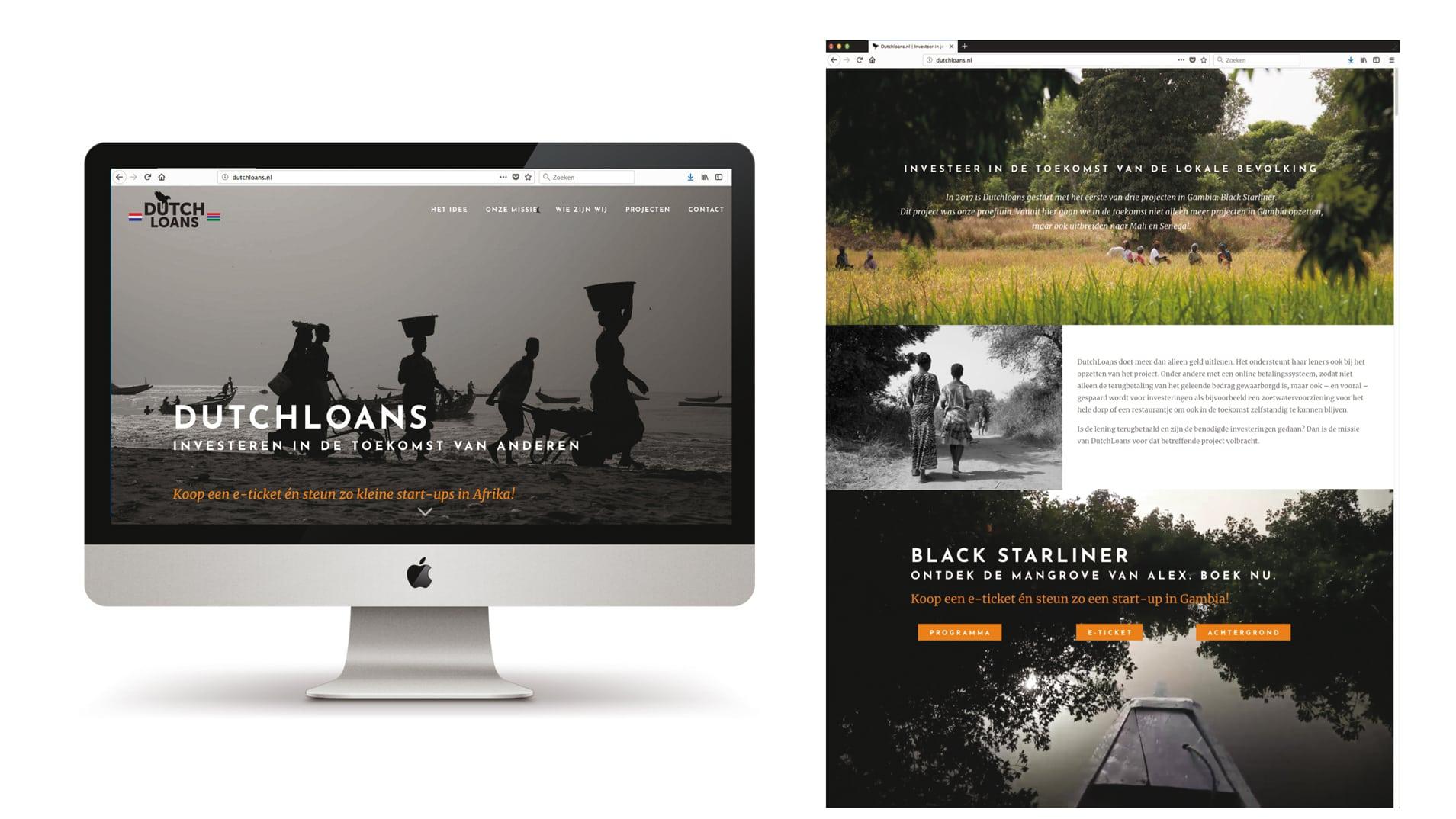 Regievoering en vormgeving van een Identiteit voor een organisatie ter ondersteuning van Afrikaanse start ups - Dutchloans