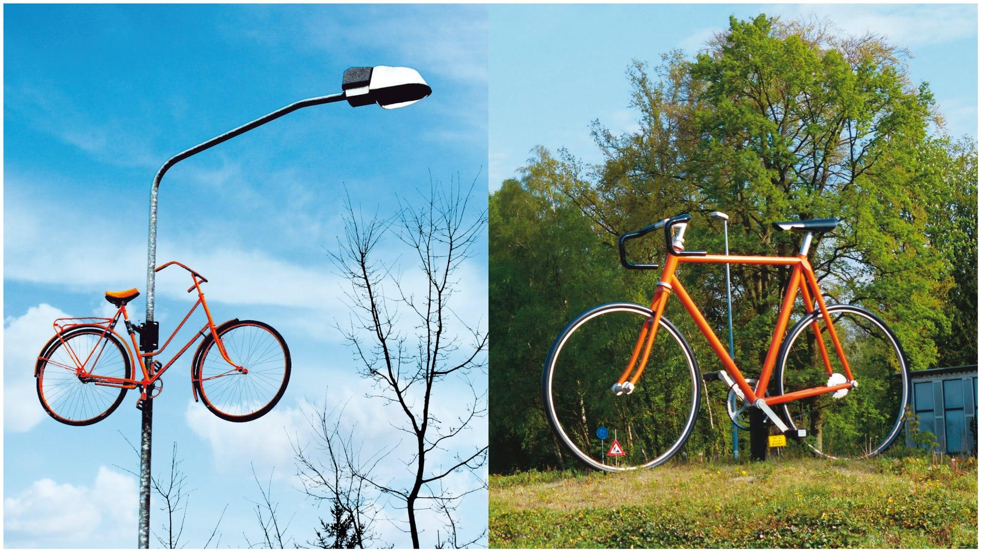 Idee ter promotie van de opening van Omnisport in Apeldoorn in 2008 (herhaald in rose tijdens de Giro Italia) - Gemeente Apeldoorn