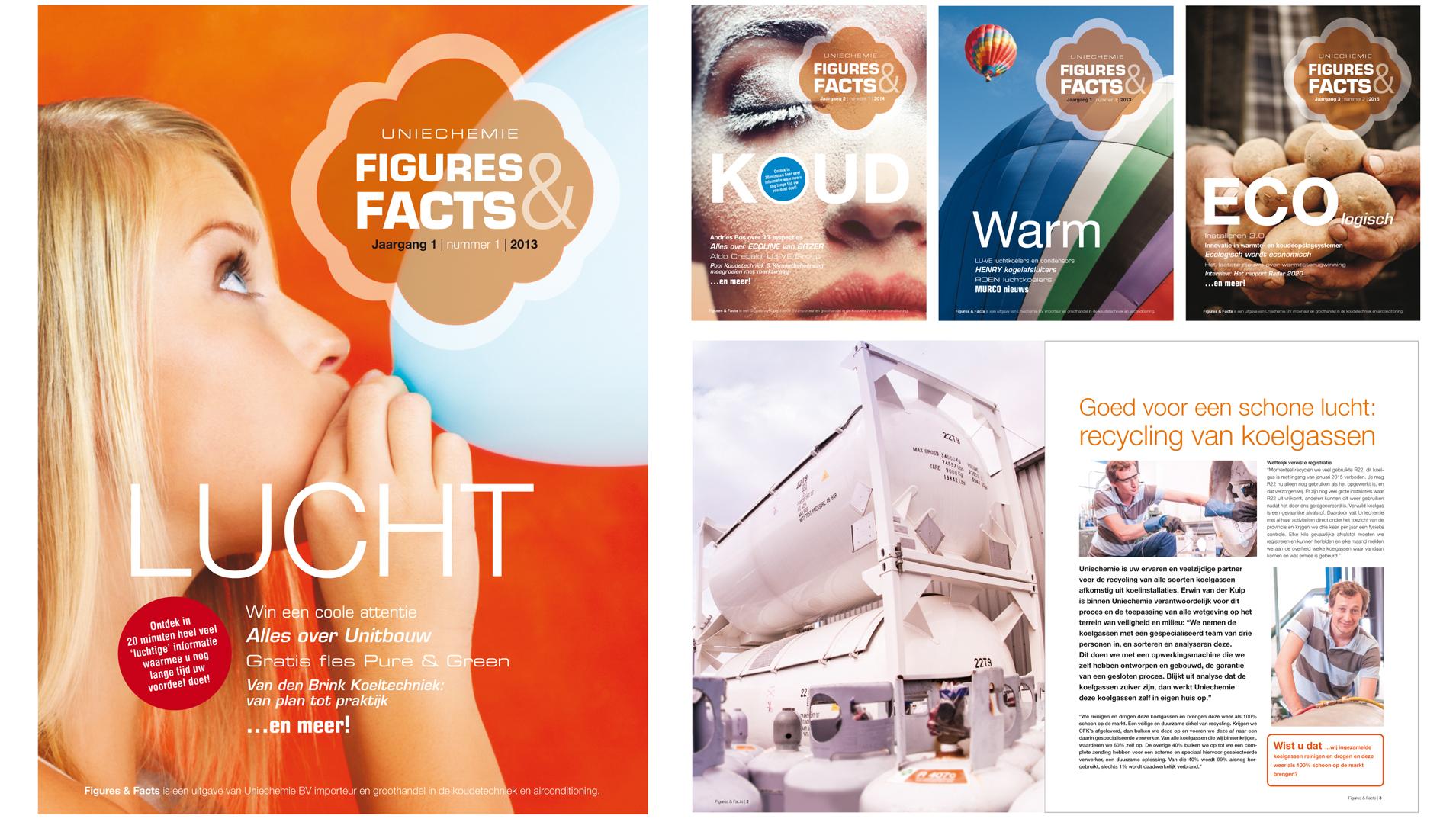 Concept en vormgeving voor een magazine binnen de koeltechnische markt - Uniechemie